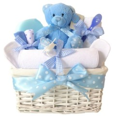Angel Baby Boy Hamper Gift Basket / Baby Hampers / Baby Boys Gifts