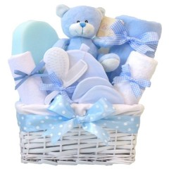 Angel DELUXE Baby Boy Gift Basket / Baby Boy Gift Hampers / Baby Boy Basket / Baby Shower Gifts