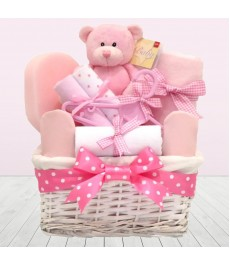 It's A Girl Baby Gift Basket Hamper⼁Little Princess Newborn Baby Girl Gifts