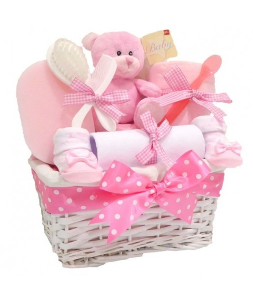 Angel DELUXE Baby Girl Gift Hamper / Baby Girl Gift Basket / Baby Shower Gift Baskets