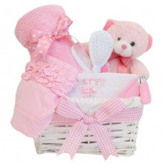 Princess Pink Baby Girl Gift Hamper / Baby Girl Gift Basket / Girl Baby Shower Gifts