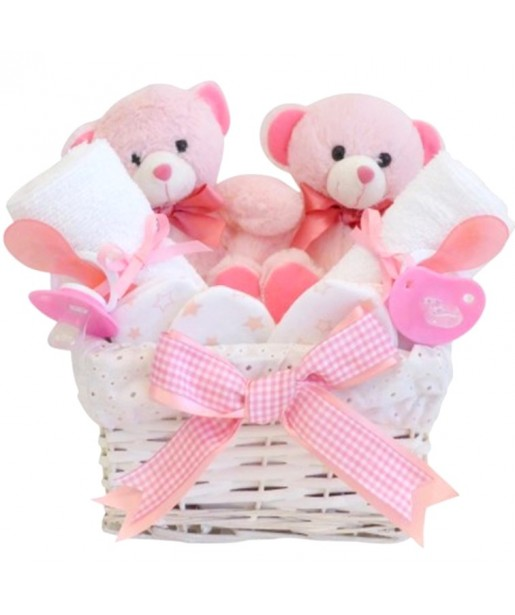 Angel Twin Girls Baby Hamper / Gift for Twin Girls / Twin Baby Girls Gift