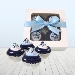 Baby Sock Cupcakes Blue⼁ Thoughtful Unique Baby Shower Gifts For Mom To Be
