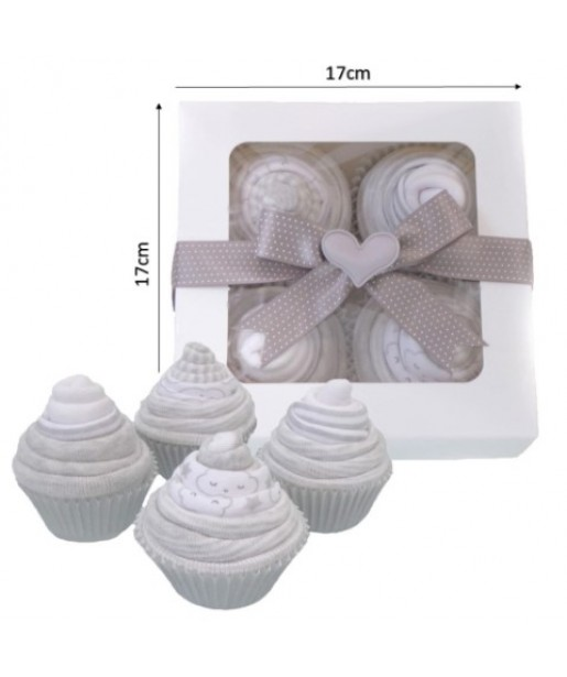 Baby Sock Cupcakes for Baby Shower - Unisex Newborn Baby Gift Set for Boy or Girl