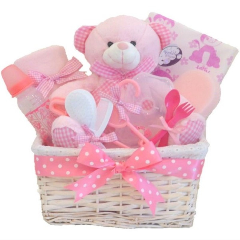 Baby Gift Basket Co : Belle baby girls gift hamper basket