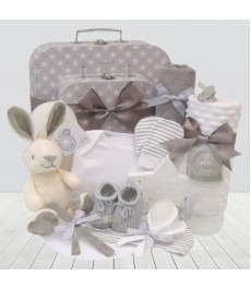 Flopsy Bunny Luxury Unisex Newborn Baby Clothes & Accessories Gift Box Set