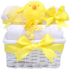 Happy Chick Baby Easter Basket⼁Baby's First Easter Gift Hamper
