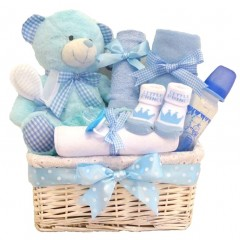 Cuddles DELUXE Baby Boy Gift Hamper / Baby Girl Gift Basket / Baby Shower Gift Baskets