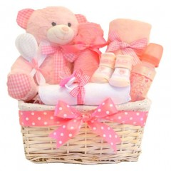 Cuddles DELUXE Baby Girl Gift Hamper / Baby Girl Gift Basket / Baby Shower Gift Baskets