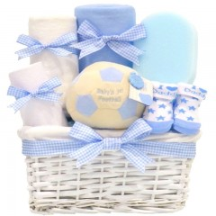 My First Football Baby Boy Gift Hamper / Boys Baby Hamper / New Baby Boys Gifts