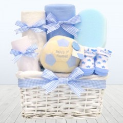 Baby Blue Boy Football Newborn Gift Hamper⼁Football Ball for Baby Boy Basket