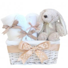 Flopsy Bunny Neutral Baby Hamper / Easter Gifts For Babies / / Unisex Baby Shower Gift / My First Easter