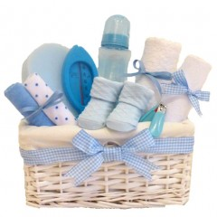 Lola Baby Boy Gift Hamper / Baby Hamper / Maternity Gift Basket / Baby Shower Gifts / New Baby Boys Gifts