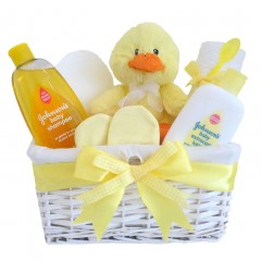 Mr Duck Unisex Johnsons's Baby Gift Hamper / Newborn Easter Basket  / My 1st Easter Gift