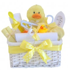 Mr Duck Unisex Baby Gift Hamper / Newborn Easter Basket  / My First Easter Gift