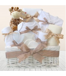 Mr Giraffe Large Unisex New Baby Clothes Hamper⼁Unique Baby Shower Gift Baskets