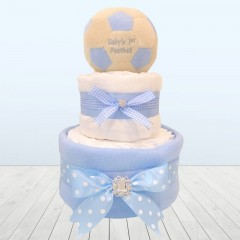 My Baby's First Football Baby Shower Nappy Cake