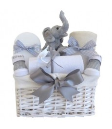 My First Teddy Elephant Unisex Baby Gift Hamper⼁Luxury Mummy To Be Baby Hamper
