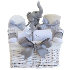 My First Teddy Elephant Unisex Baby Gift Hamper