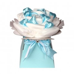 Rose Newborn Baby Boys Nappy Cake / Baby Shower Gift
