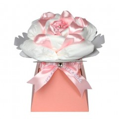 Rose Newborn Baby Girl Nappy Cake / Girl Baby Shower Gift