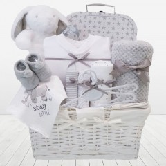 My First Teddy Bunny LARGE Unisex Baby Hamper Basket⼁ Unisex Baby Shower Gifts