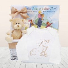 We're Going On Bear Hunt Newborn Bedtime Story Book For Baby with Bedtime Teddy Bear